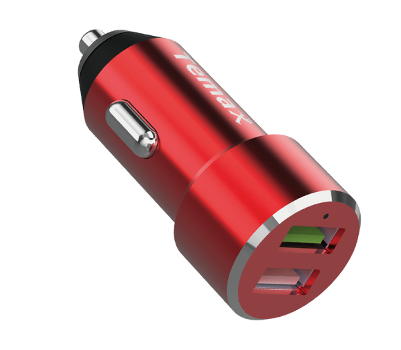 POWERDRIVE CHARGER | 30W, 2-PORT CAR CHARGER (U220) Red
