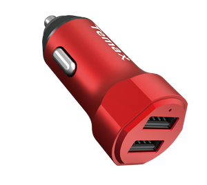 POWERDRIVE CHARGER | 24W, 2-PORT CAR CHARGER (U210) Red