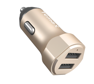 POWERDRIVE CHARGER | 24W, 2-PORT CAR CHARGER (U210) Gold