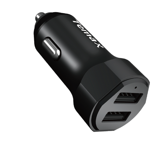 POWERDRIVE CHARGER | 24W, 2-PORT CAR CHARGER (U210) Black