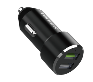 POWERDRIVE CHARGER | 30W, 2-PORT CAR CHARGER (U220) Black