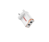 Dual ports2.4A wall charger UK plug - White
