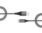 2m Nylon Grey USB to MFi Lightning cable
