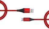 2m Nylon Red USB to MFi Lightning cable