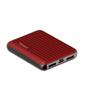 Temax Power Bank, Fast charging 10000 mAh Portable [QC 3.0] - Red