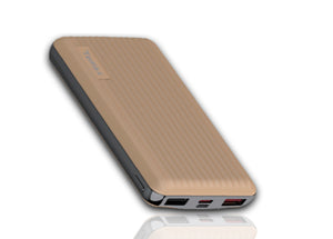 Temax Power Bank, Fast charging 20000 mAh Portable [QC 3.0] - Gold