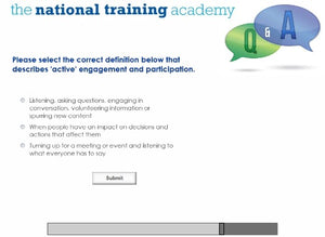 Engagement and Participation Online Training screen shot 7