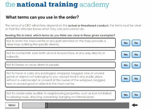 Anti-Social Behaviour LA and Police Partner Powers Online Training - screen shot 3