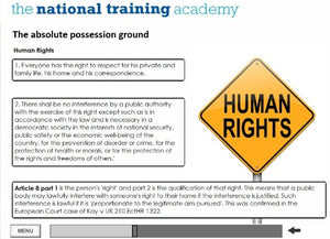 Anti-Social Behaviour - Ground for Possession Online Training - screen shot 5
