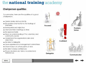 Chairperson Skills in an Organisation Online Training screen shot 4