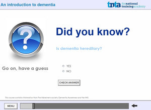 dementia awareness training screen shot 3