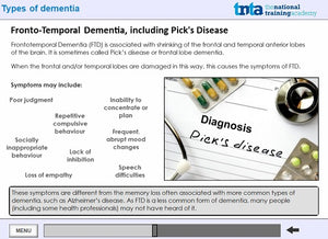 dementia awareness training screen shot 4
