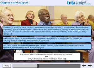 dementia awareness training screen shot 6