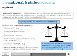 Drug and Alcohol Awareness Online Training - screen shot 3