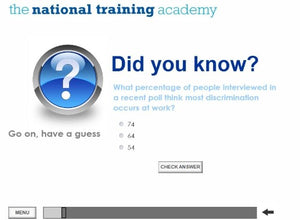 Equality and Diversity Online Training - screen shot 2