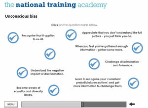Equality and Diversity Online Training - screen shot 4
