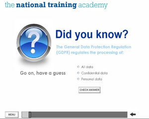 GDPR and Confidentiality Online Training - screen shot 2