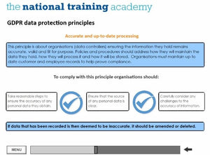GDPR and Confidentiality Online Training - screen shot 4