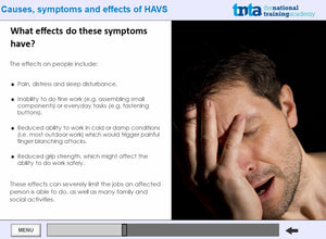 Hand Arms Vibration Syndrom HAVS screen shot 3