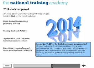 History of Social Housing in Scotland Online Training - screen shot 4