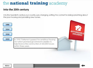 History of Social Housing in Wales Online Training - screen shot 3
