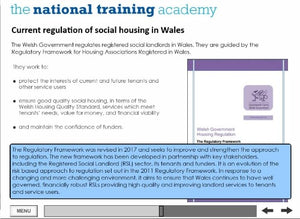History of Social Housing in Wales Online Training - screen shot 4