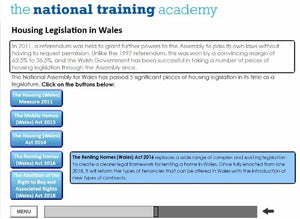 History of Social Housing in Wales Online Training - screen shot 5