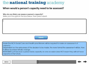 An Introduction to the Mental Capacity Act and Deprivation of Liberty Safeguards Online Training - screen shot 3