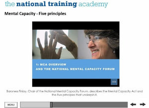 An Introduction to the Mental Capacity Act and Deprivation of Liberty Safeguards Online Training - screen shot 5