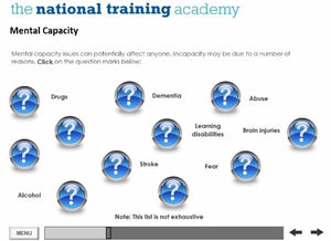 An Introduction to the Mental Capacity Act and Deprivation of Liberty Safeguards Online Training - screen shot 6