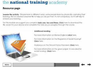 An introduction to social housing online training - Screen shot 3