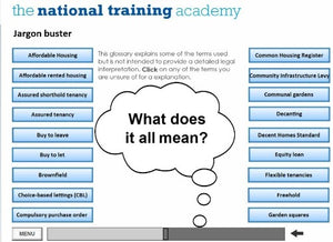 An introduction to social housing online training - Screen shot 4