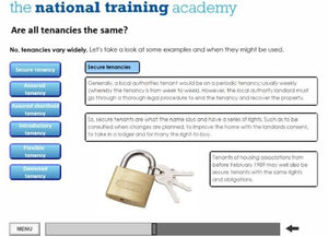 An introduction to social housing online training - Screen shot 5