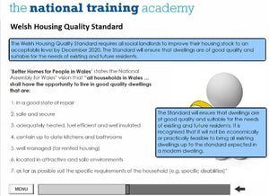An Introduction to Social Housing (Wales) Online Training - screen shot 3