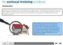 Load image into Gallery viewer, An Introduction to Social Housing (Wales) Online Training - screen shot 4
