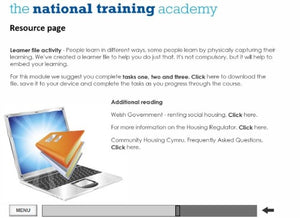 An Introduction to Social Housing (Wales) Online Training - screen shot 6