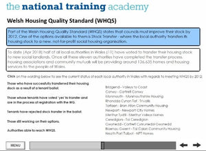 History of Social Housing in Wales Online Training - screen shot 6