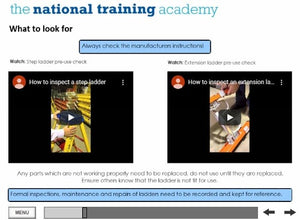 Ladder Safety Online Training - screen shot 5