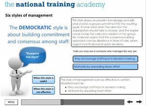 Leadership and Management Online Training screen shot 4
