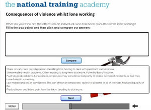 Managing Lone Workers Online Training - screen shot 3
