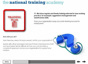 Managing Lone Workers Online Training - screen shot 7