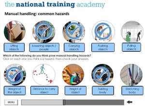 Manual Handling Online Training screen shot 4