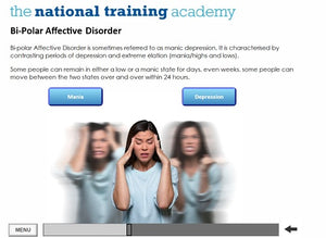Mental health awareness online training screen shot 2