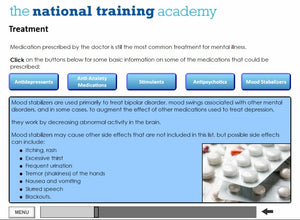 Mental health awareness online training screen shot 4