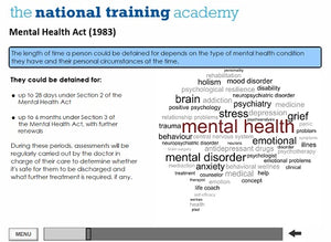 Mental health awareness online training screen shot 5
