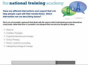Mental health awareness online training screen shot 6