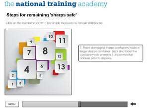 Needles and Sharps Training Online Training - screen shot 6