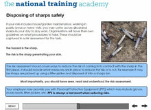 Load image into Gallery viewer, Needles and Sharps Training Online Training - screen shot 5