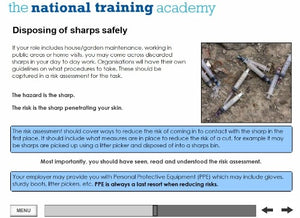 Needles and Sharps Training Online Training - screen shot 5