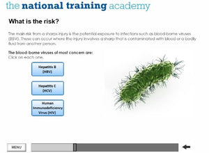 Needles and Sharps Training Online Training - screen shot 4